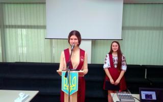 Юлія Попудник прозвітували про роботу учнівського президента протягом навчального року